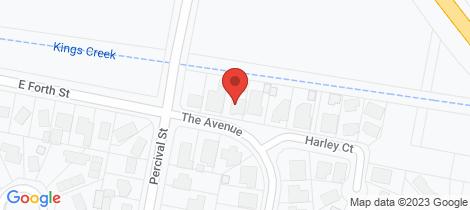 Location map for 5 The Avenue Latrobe