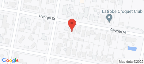 Location map for 48 George Street Latrobe