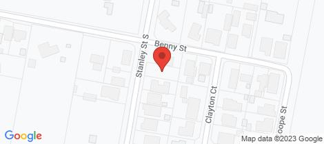 Location map for 209 Stanley Street Latrobe