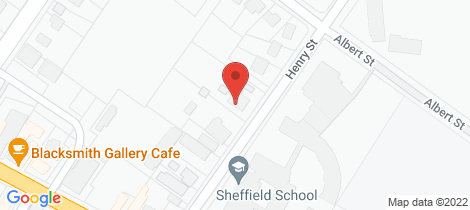 Location map for 29 Henry Street Sheffield