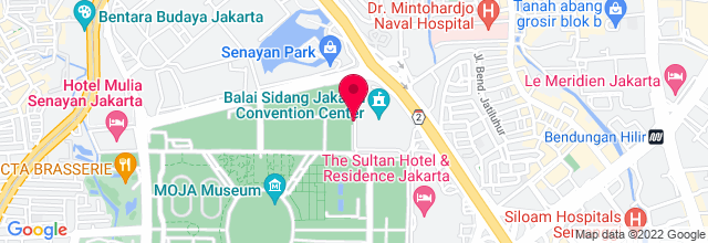 Map for Jakarta Convention Center (JCC)