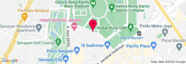 Map for Tennis Indoor Senayan