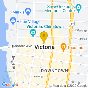 Map to Centennial Square provided by Google