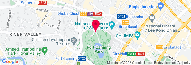 Map for Fort Canning Park