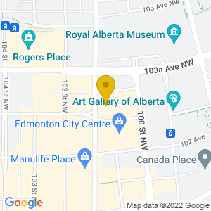 Map to Rose and Crown Edmonton provided by Google