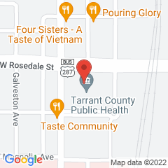 Google Map of 1101 South Main Street, Fort Worth, Texas 76104