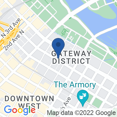 Google Map of 111 Washington Avenue South Minneapolis, MN 55401