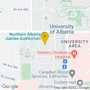 Map to Jubilee Auditorium - Edmonton provided by Google