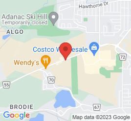 Google Map of 1237+Kingsway+Ave%2CSudbury%2COntario+P3B+2E9