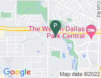 Google Map of 12720 Hillcrest Road, Dallas TX