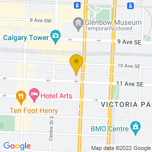 Map to National Music Centre provided by Google