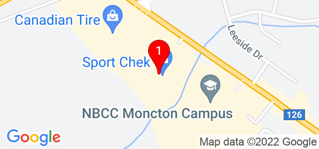 Google Map of 1380 Mountain Road, Moncton, NB, Canada