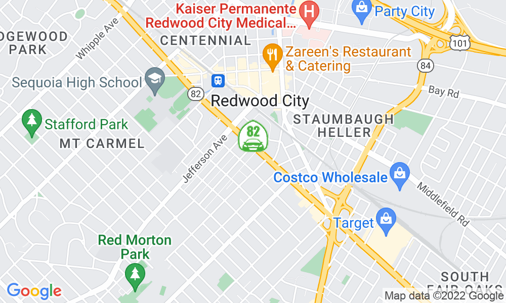 Google Map of 1414 El Camino Real, Redwood City, CA 94061