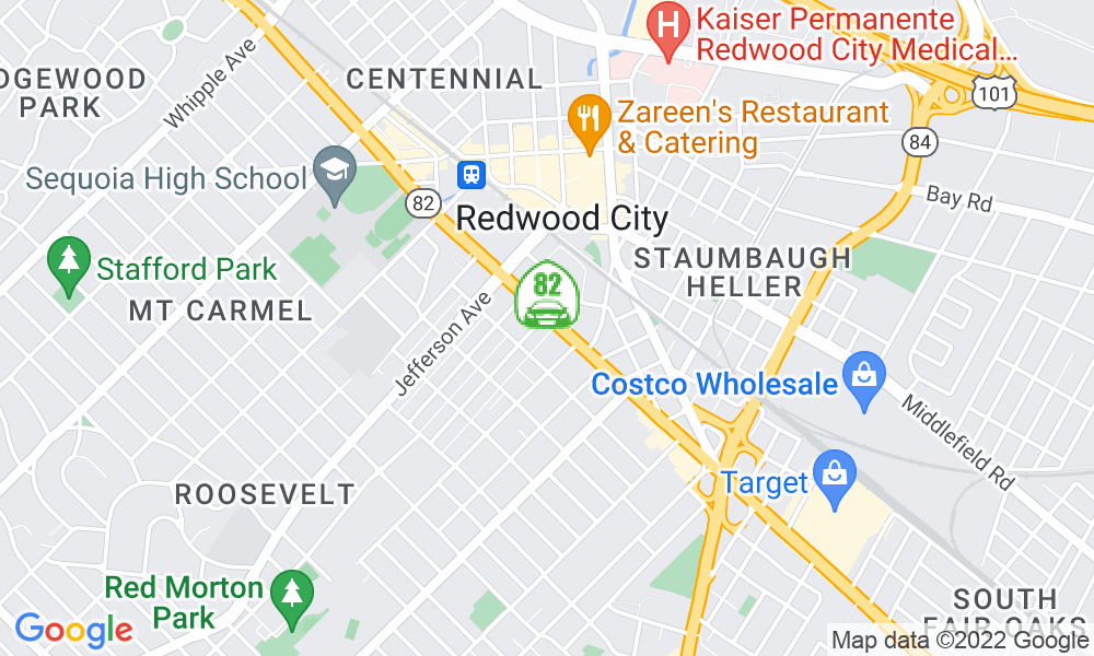 Google Map of 1414 El Camino Real, Redwood City, CA 94063