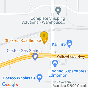 Map to Shakers Roadhouse provided by Google