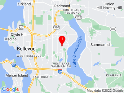Google Map of 16330 NE 4th Street, Bellevue WA 98008