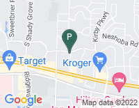 Google Map of 1655 International Drive, Memphis TN