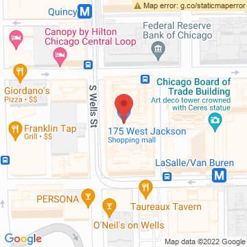 Google Map of 175 West Jackson Blvd Chicago, IL 60604