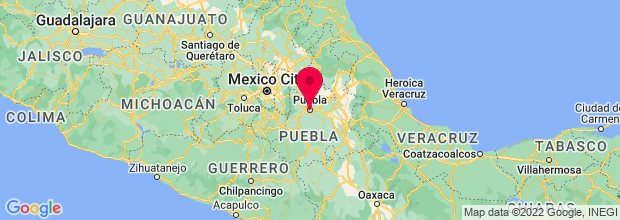Map of Puebla, Mexico