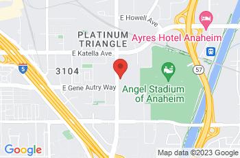 Google Map of 1900 S. State College Blvd, Anaheim, CA, 92806