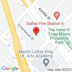 Google Map of 1906 Peabody Avenue, Dallas, Texas 75215