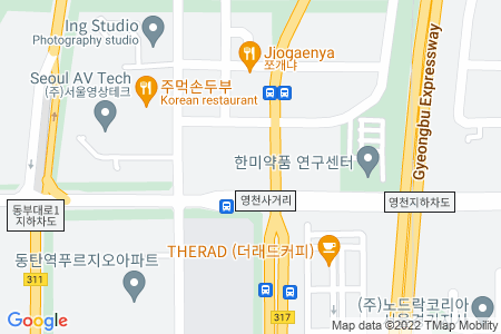 Google Map of 2009 Kumkang Penterium IT Tower, 557, Dongtangiheung-ro, Hwaseoung-si, Gyeonggi-do, Korea 18469