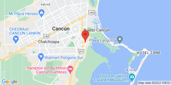 Fiesta Inn Cancun Las Americas , Cancun Map