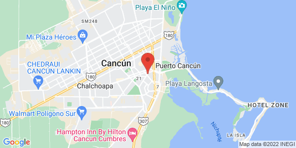 Grand City Hotel Cancun , Cancun Map