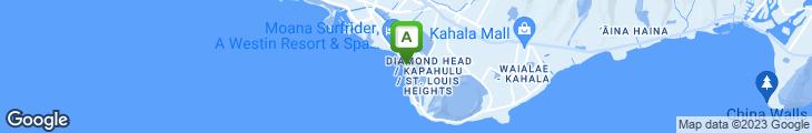 Map of Lulu's Waikiki Surf Club
