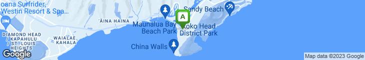 Map of Kona Koko Marina Pub