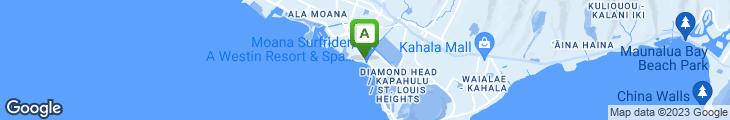 Map of Hula Grill Waikiki