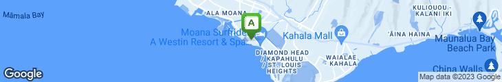 Map of Ruth's Chris Steak House - Waikiki