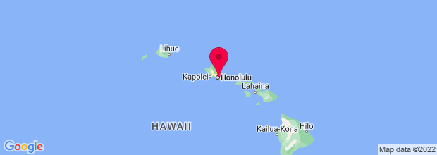 Map of Honolulu, HI, US