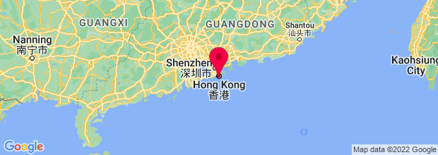 Map of Hong Kong, China