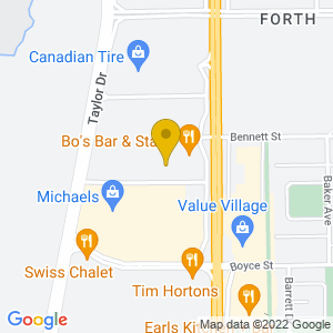 Map to Bo's Bar and Grill provided by Google