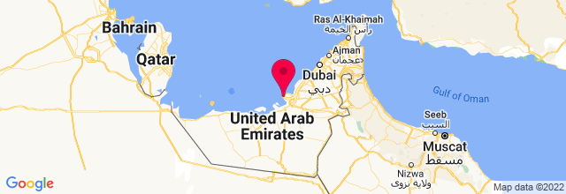 Map of Abu Dhabi, United Arab Emirates