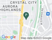 Google Map of 2461 South Clark Street, Arlington VA