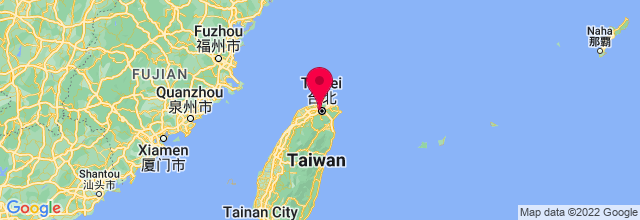 Map of Taipei, Taiwan