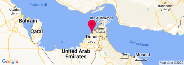 Map of Dubai, United Arab Emirates