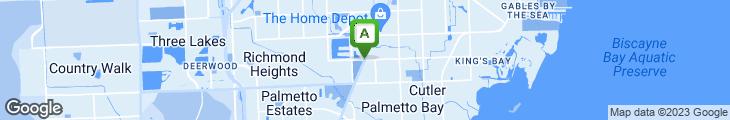 Map of Papa Ricco's Restaurant & Pizzeria