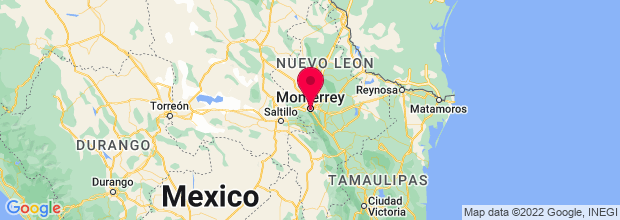Map of Monterrey, Mexico