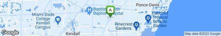 Map of Miyako Of Dadeland Japanese Restaurant