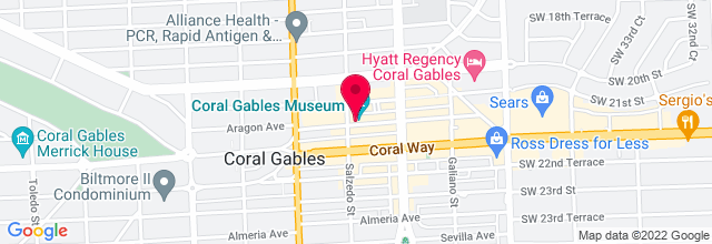 Map for Coral Gables Museum