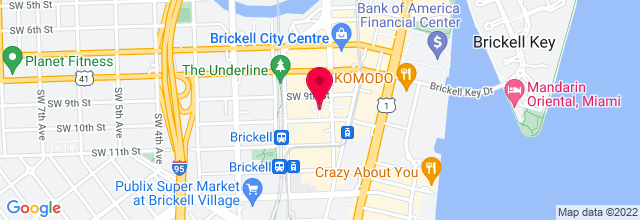 Map for Blue Martini Lounge - Brickell