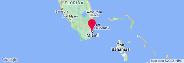 Map of Miami, FL, US