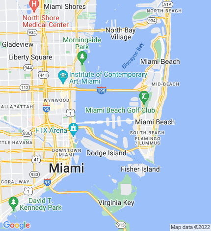 Miami and Miami Beach map