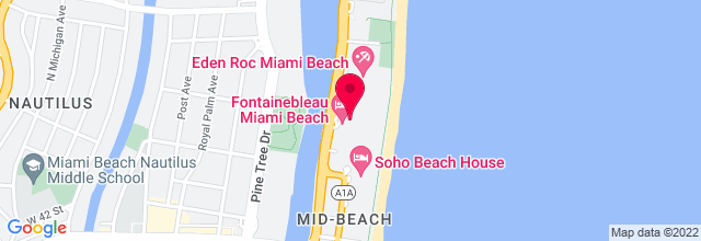 Map for Fontainebleau Hotel & Resort