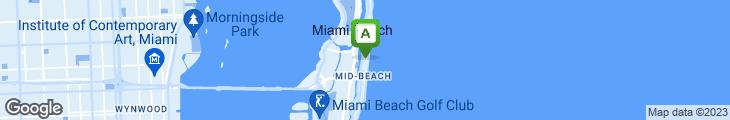 Map of Nobu Miami Beach
