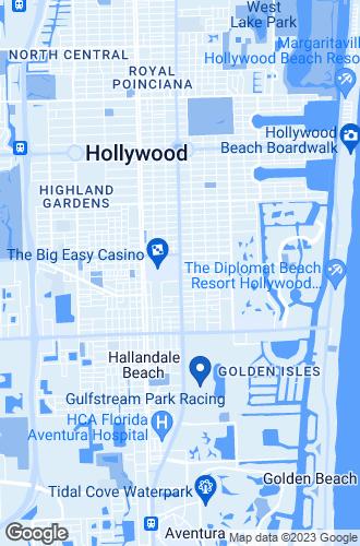 Map of Hallandale