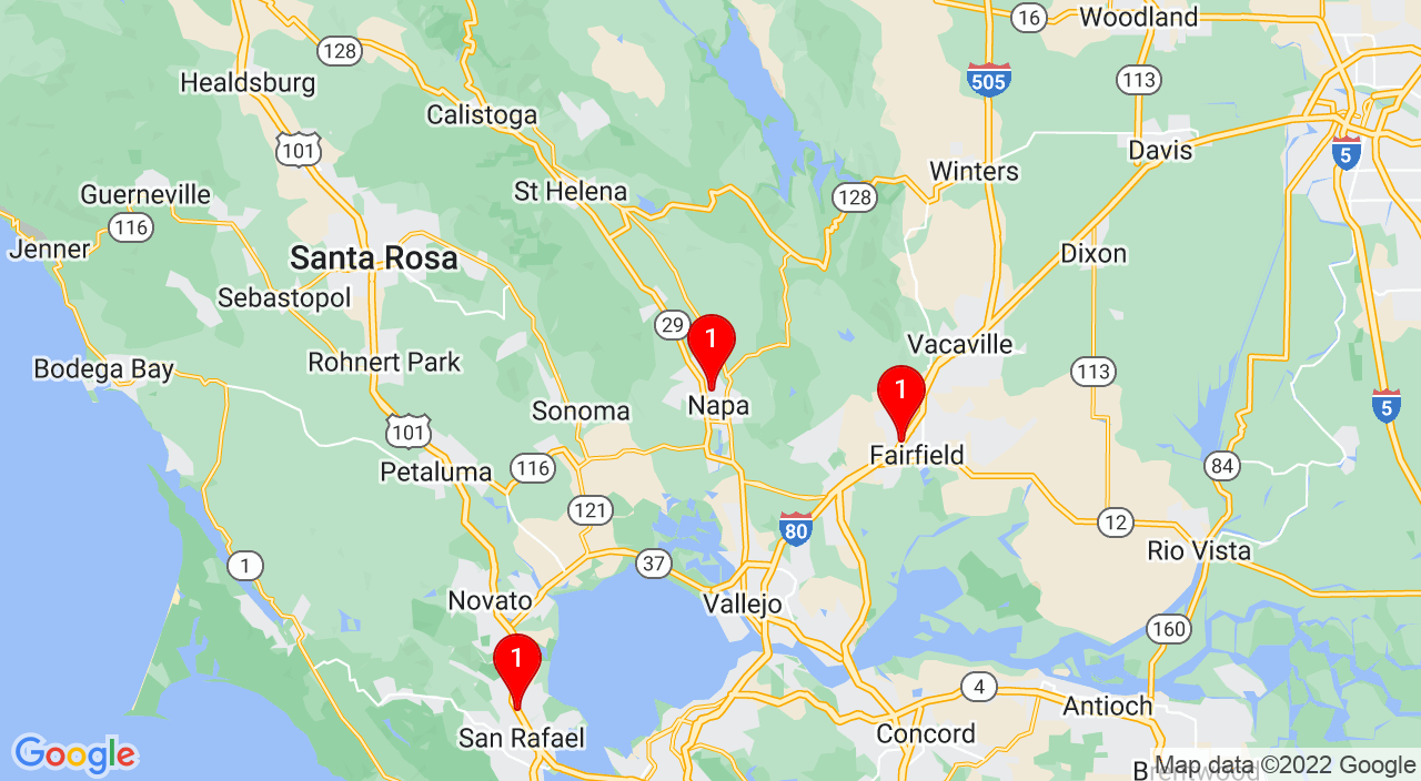 Google Map of 2532 Jefferson St, Napa, CA 94558